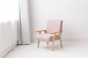 Armchair for childrens room - rose velour