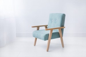 Armchair for childrens room - mint velour