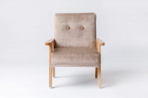 Armchair for childrens room - fur fabric brown