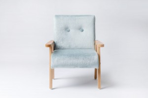 Armchair for childrens room - fur fabric mint